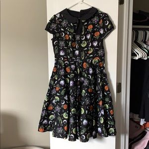Halloween print a-line dress